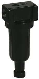 Dixon Wilkerson 1/4 in. F03 Miniature Filter with Metal Bowl - Manual Drain