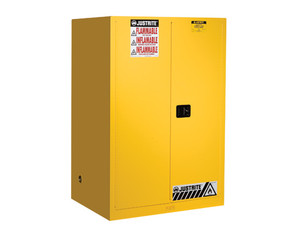 Justrite Sure-Grip® EX Classic Manual Close 90 Gal Safety Cabinets For Flammables