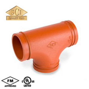 Smith Cooper 1 1/2 in. Grooved Tee - Standard Radius