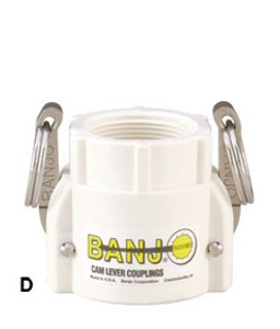 Banjo 1 in. FDA Female Coupler x Female NPT - Part D