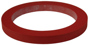 Dixon 4 in. PTFE (FEP) Encapsulated Silicone Cam & Groove Gasket (Translucent / Red)