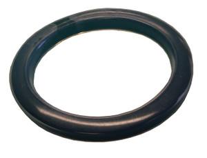 Dixon 4 in. PTFE (FEP) Encapsulated Viton Cam & Groove Gasket (Translucent / Black)