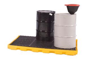 UltraTech International Ultra-Inline Spill Deck - 6-Drum - 156 in. x 25 7/8 in. x 5 3/4 in. - 66 gallons