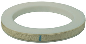 Dixon 4 in. PTFE (TFE) Envelope w/ White Buna-N Filler Cam & Groove Gasket (White / White)