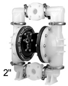 ALL-FLO 2 in. Polypropylene Air Diaphragm Pump w/ Buna Diaphragms, Balls & Seats