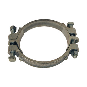 Dixon Plated Iron Double Bolt Clamps w/ Saddles - 4-1/4 in. to 4-15/16 in. Hose OD