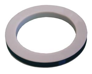 Dixon 6 in. PTFE (TFE) w/ Buna-N Filler Cam & Groove Envelope Gasket  (White / Black)