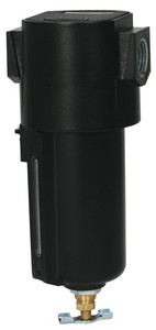 Dixon Wilkerson 1/4 in. F16 Compact Filter with Metal Bowl - Manual Drain