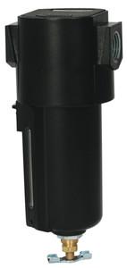 Dixon Wilkerson 1/4 in. Airline Compact Filters w/Metal Bowl, Manual Drain - 63 SCFM