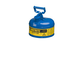 Justrite 7110300 Type I 1 Gallon Safety Gas Can (Blue)