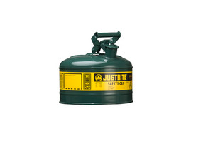 Justrite Type I 1 Gal Safety Gas Can (Green)