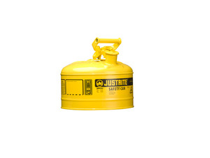 Justrite Type I 2 Gal Safety Gas Can (Yellow)
