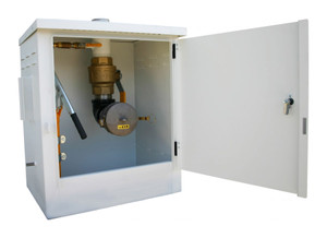 Morrison 715 Series 10 Gal Powder Coated Steel AST Remote Fill Box & 2 in. Male Quick Disconnect w/ Cap
