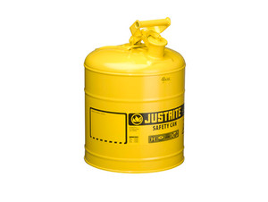 Justrite Type I 5 Gal Safety Gas Can (Yellow)