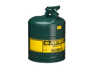 Justrite Type I 5 Gal Safety Gas Can (Green)
