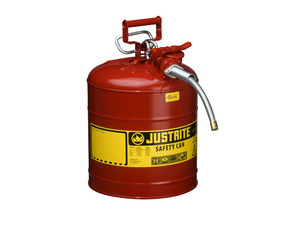 Justrite 7250130 Type II AccuFlow 5 Gallon Safety Gas Can w/ 1 in. Spout (Red)