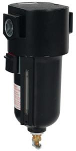 Dixon Wilkerson 3/8 in. Airline Standard Filters w/Metal Bowl & Sight Glass, Manual Drain - 117.8 SCFM