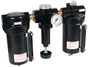 Dixon Wilkerson 1 in. Jumbo Combination Units w/ Metal Bowl & Sight Glass, Manual Drain - 374 SCFM