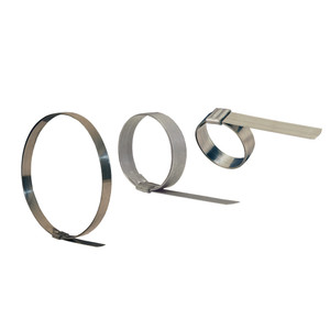 Dixon 3/8 in. Band Width Stainless Steel Smooth 13/16 in. ID Clamp - 100 QTY