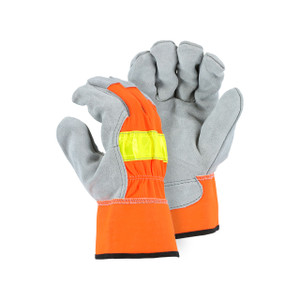 Majestic High Visibility Large Unlined Work Gloves