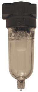 Dixon Norgren Series 1 1/4 in. Mini Filter w/Transparent Bowl, Manual Drain - 24 SCFM
