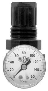 Dixon Norgren Series 1 1/8 in. Mini Regulator With Gauge - 14 SCFM