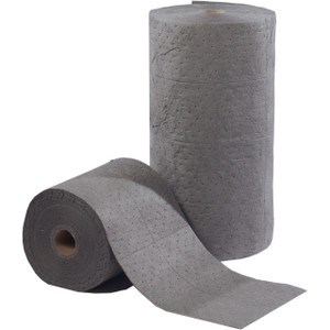 ESP Universal 15 in. x 150 ft. Meltblown, Sonic Bonded, Less-Linting Medium Weight Sorbent Rolls - 2 Rolls