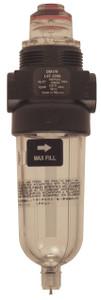 Dixon Series 1 L07 1/4 in. Miniature Lubricator with Transparent Bowl