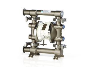 Graco 515 FDA-Compliant 1/2 in. Double Diaphragm Sanitary Pumps - SST/PTFE O-Rings, PTFE Balls, Overmolded PTFE Dia.