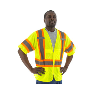 Majestic High Visibility ANSI 3 Medium Mesh Zipper Vests