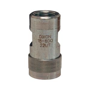 Dixon FTP Series 1/2 in. 2500 PSI Steel Ball Valve Coupler ISO5675 w/ 1/2 in. - 14 Female NPTF Thread