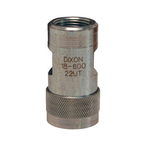 Dixon FTP 3/4 in. 2500 PSI Steel Ball Valve Coupler ISO5675 with 3/4 in. - 14 Female NPTF Threads
