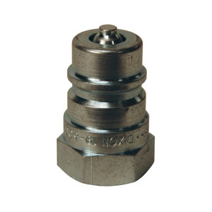 Dixon FTP 3/8 in. 2500 PSI Steel Ball Valve Plug ISO5675 with 3/8 in. - 18 Female NPTF Threading