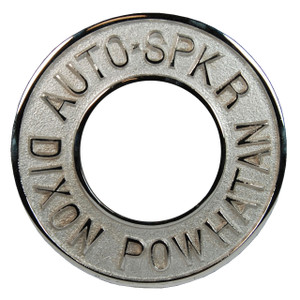 Dixon Powhatan 2 1/2 in. Pipe Chrome Plated Round Identification Auto-Sprinkler Plate