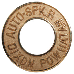 Dixon Powhatan 2 1/2 in. Pipe Polished Brass Round Identification Auto-Sprinkler Plate