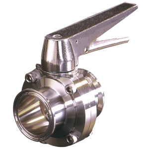 Dixon Sanitary Butterfly Valves Trigger Handle 316 Stainless Steel - 2 1/2 in. - W/ Silicone Seal