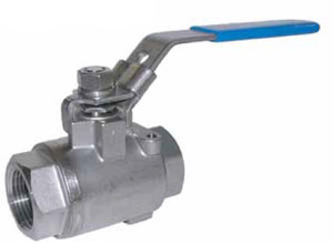 Chem Oil Products 1 in. 2000 WOG 2-Piece 316 Stainless Steel NACE Ball Valves - Full Port