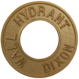 Dixon Powhatan 4 in. Pipe Round Identification Wall Hydrant Plate