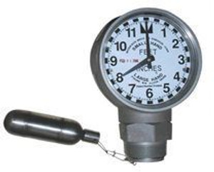 Morrison Bros. 2 in. Male NPT Clock Gauge - Feet & Inches