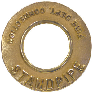Dixon Powhatan 6 in. Pipe Round Identification Standpipe Plate