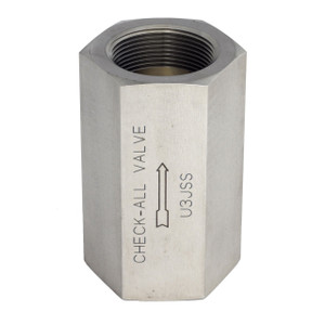 Check-All Valve 3 in. Stainless Steel Threaded Low-Pressure Check Valves