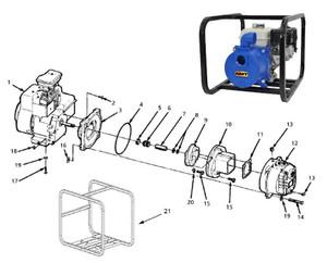 "AMT/Gorman Rupp 1 1/2"" Impeller for 316 Series Trash Pumps"