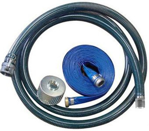 Kuriyama PVC Water Suction & Discharge Hose w/ Strainer & Camlock Couplings - 1 1/2 in.