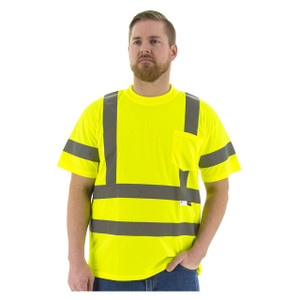 Majestic High Visibility ANSI 3 Large Mesh Short Sleeve T-Shirts