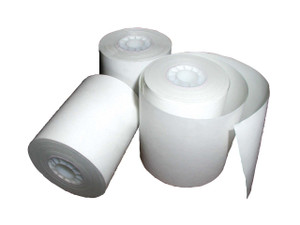 ESCO 4 1/2 in. x 600 ft. 1-Ply Printer Paper Roll Case (fits Gasboy-Island Card Reader) - 8 Rolls