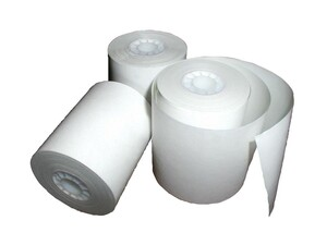 ESCO 4 1/2 in. x 600 ft. 1-Ply Printer Paper Roll Case (fits Gasboy-Island Card Reader) - 8 Rolls
