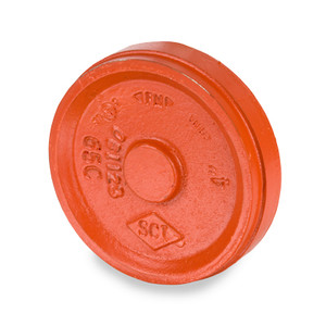 Smith Cooper 1 1/4 in. Grooved Cap - Orange Paint Coating