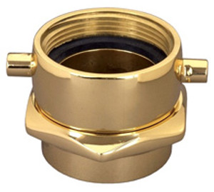 Dixon Powhatan 1 1/2 in. NH(NST) x 1 1/2 in. NPT Brass Pin Lug  (Open Snoot) Female Swivel Adapters
