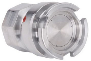 Novaflex HDC 1 in. Stainless Steel Hi Flow Dry Release Adapter w/ Chemraz Seals