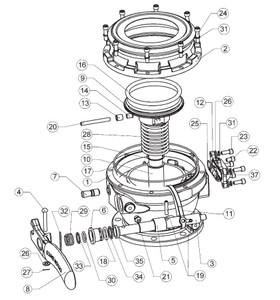 Dixon 5204 Series API Bottom Loading Adapter Sight Glass Repair Kit